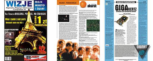 Magazyn Wizje - dwutygodnik rozrywkowy z programem TV cieszący się dużym uznaniem czytelników. Własna produkcja naszej Firmy.